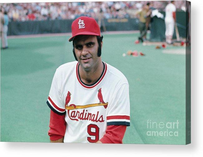 St. Louis Cardinals Acrylic Print featuring the photograph St. Louis Cardinals Player Joe Torre by Bettmann