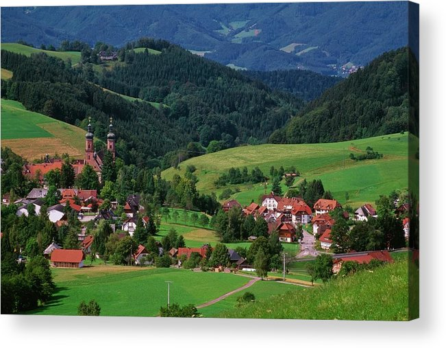 Architectural Feature Acrylic Print featuring the photograph St. Peters Abbey, Black Forest, Germany by Bilderbuch  / Design Pics