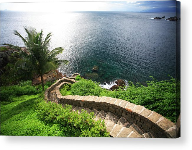 Steps Acrylic Print featuring the photograph Stairs To The Sea - Brazil by Luso