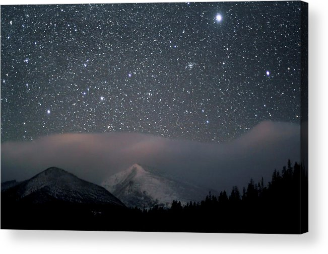 Constellation Acrylic Print featuring the photograph Stars Over Rocky Mountain National Park by Pat Gaines