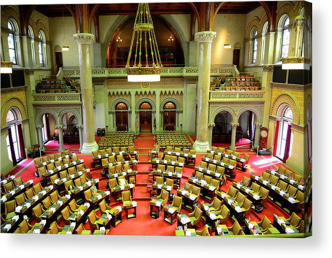 Arch Acrylic Print featuring the photograph State House Capitol Building, Albany by Dennis Macdonald