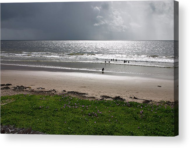 Trinidad Dreamscape Acrylic Print featuring the photograph Storm Brewing Over The Sea by Trinidad Dreamscape