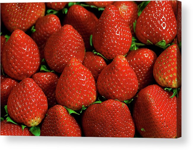 Large Group Of Objects Acrylic Print featuring the photograph Strawberry Cliche by By Ken Ilio