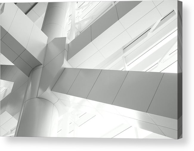 Toughness Acrylic Print featuring the photograph Structural Connection by Blackred