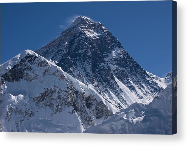 Scenics Acrylic Print featuring the photograph Summit Of Mt Everest8850m Great Details by Diamirstudio