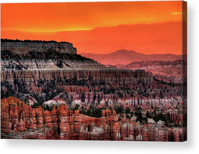 Scenics Acrylic Print featuring the photograph Sunrise At Bryce Canyon by Photography Aubrey Stoll