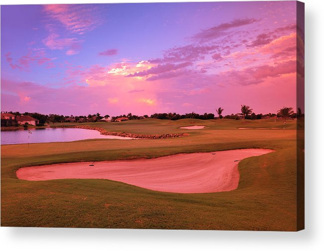 Sand Trap Acrylic Print featuring the photograph Sunrise View Of A Resort On A Golf by Rhz