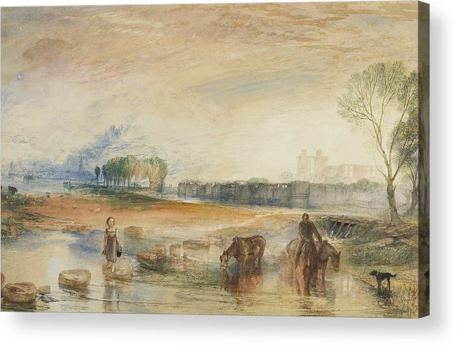 19th Century Art Acrylic Print featuring the drawing Sunset And Moonrise by Joseph Mallord William Turner