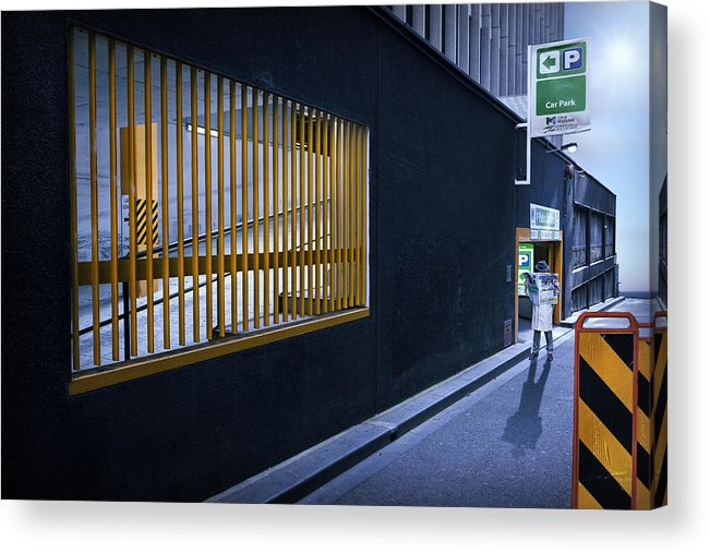 Melbourne Acrylic Print featuring the photograph The Car Park by Adrian Donoghue