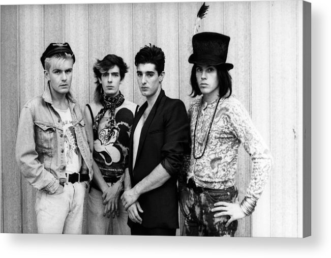 1980-1989 Acrylic Print featuring the photograph The Cult In London by Erica Echenberg