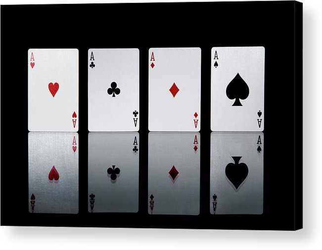 Risk Acrylic Print featuring the photograph The Four Aces From A Pack Of Playing by Sasha Weleber