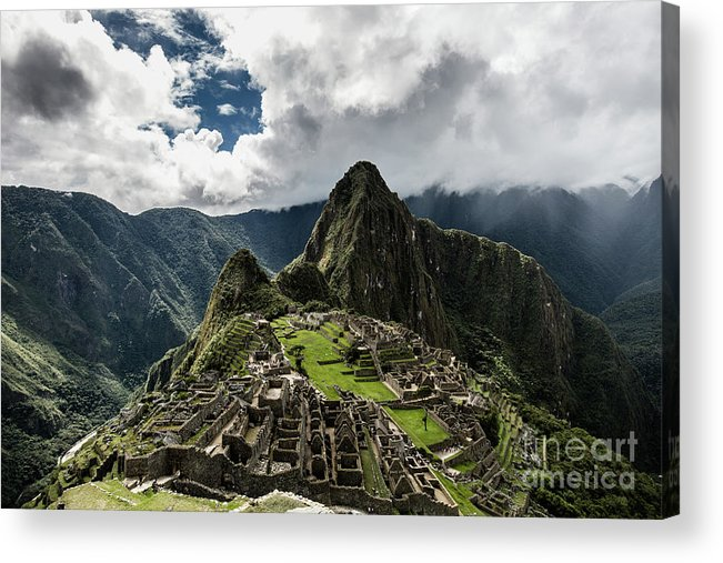 Scenics Acrylic Print featuring the photograph The Inca Trail, Machu Picchu, Peru by Kevin Huang