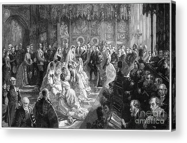 Event Acrylic Print featuring the drawing The Marriage Of Princess Louise, 21 by Print Collector