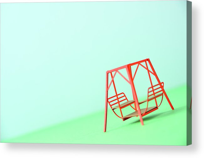 Paper Craft Acrylic Print featuring the photograph The Model Of The Swing Made Of The Paper by Yagi Studio