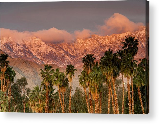 Scenics Acrylic Print featuring the photograph The San Jacinto And Santa Rosa Mountain by Danita Delimont