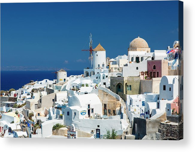 Greek Culture Acrylic Print featuring the photograph The Small Greek Village Of Oia by Sylvain Sonnet