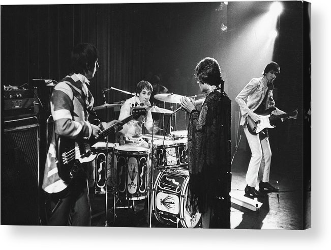 Rock Music Acrylic Print featuring the photograph The Who At The Fillmore East by Fred W. McDarrah