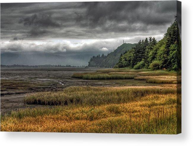Scenics Acrylic Print featuring the photograph Tillamook Estuary by Photo By Ryan J. Zeigler