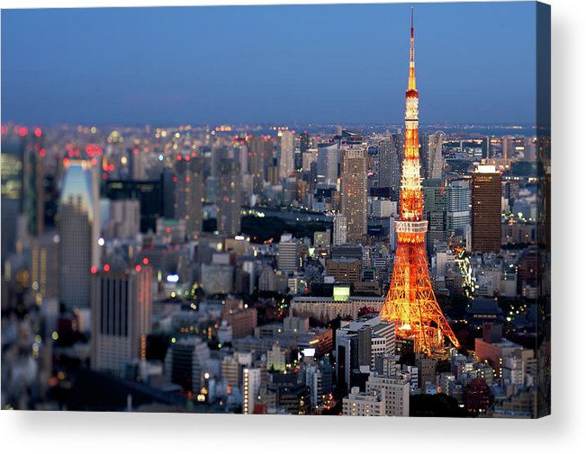 Tokyo Tower Acrylic Print featuring the photograph Tokyo Tower by Vladimir Zakharov