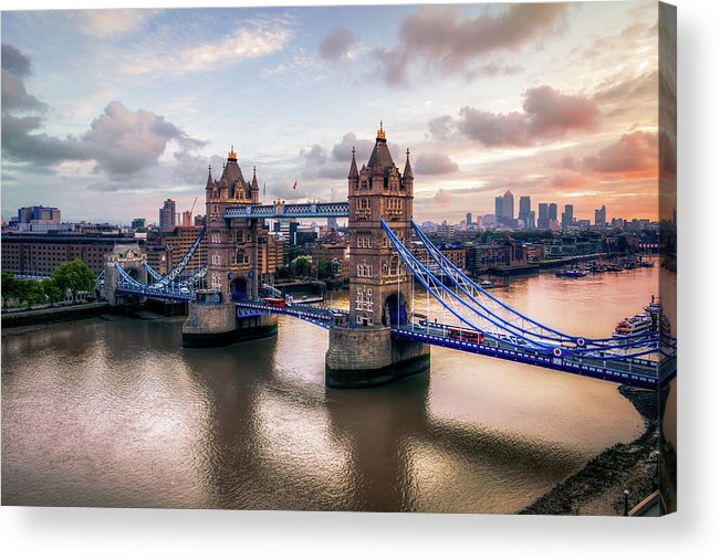 England Acrylic Print featuring the photograph Tower Bridge Taken From City Hall by Joe Daniel Price