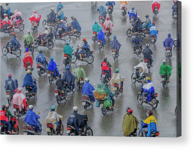 Ho Chi Minh City Acrylic Print featuring the photograph Traffic In Ho Chi Minh City by Rwp Uk