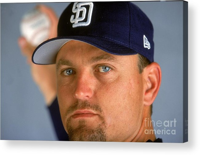 Peoria Sports Complex Acrylic Print featuring the photograph Trevor Hoffman 51 by Brian Bahr
