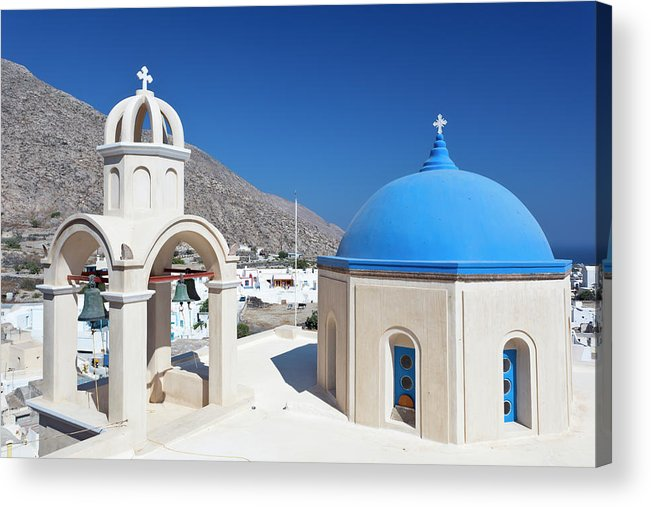 Greek Culture Acrylic Print featuring the photograph Typical Greek Church by Michaelutech