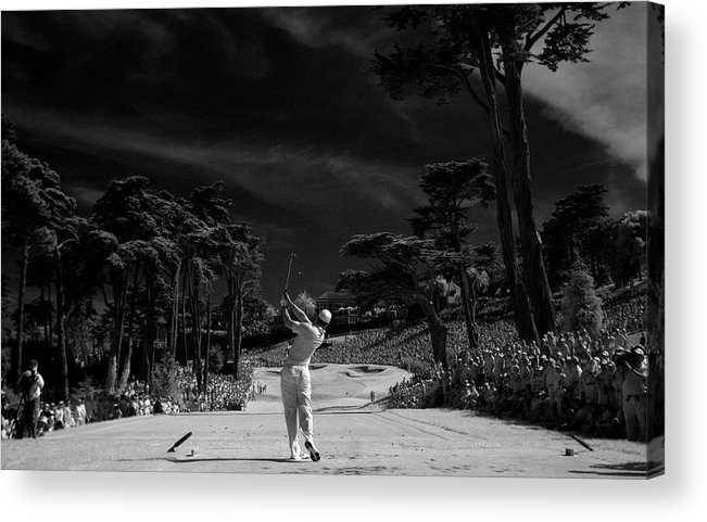 San Francisco Acrylic Print featuring the photograph U.s. Open - Round Three by Jeff Gross