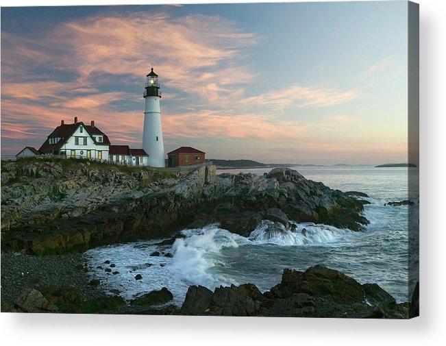 Scenics Acrylic Print featuring the photograph Usa, Maine, Cape Elizabeth, Portland by Visionsofamerica/joe Sohm