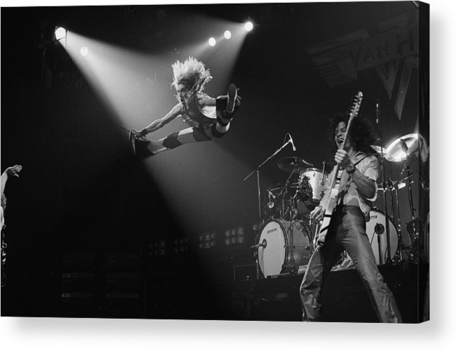 Singer Acrylic Print featuring the photograph Van Halen At The Rainbow by Fin Costello