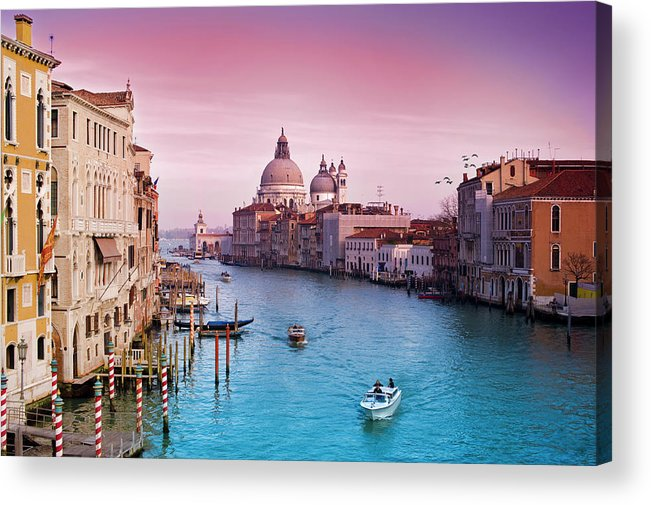 Arch Acrylic Print featuring the photograph Venice Canale Grande Italy by Dominic Kamp Photography
