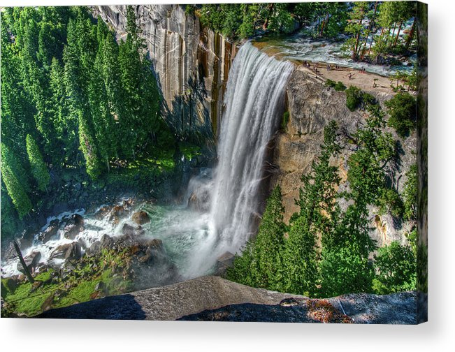 Scenics Acrylic Print featuring the photograph Vernal Falls by Aaron Meyers