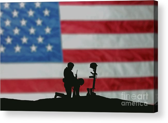 Remembrance Day Acrylic Print featuring the photograph Veterans Day Soldier by Wwing