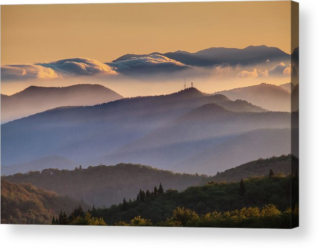 North Carolina Acrylic Print featuring the photograph View Of Frying Pan Mountain by Fine Art Images By Rob Travis Photography