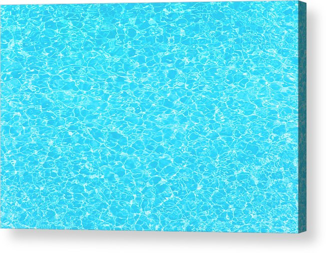 Cool Attitude Acrylic Print featuring the photograph Water Wave Pattern Of Swimming Pool by Anddraw