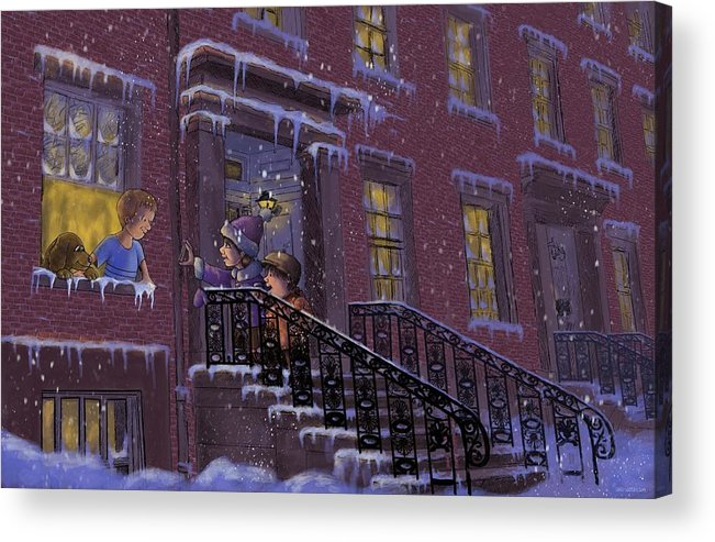 Cartoon Acrylic Print featuring the digital art We Won by Larry Whitler