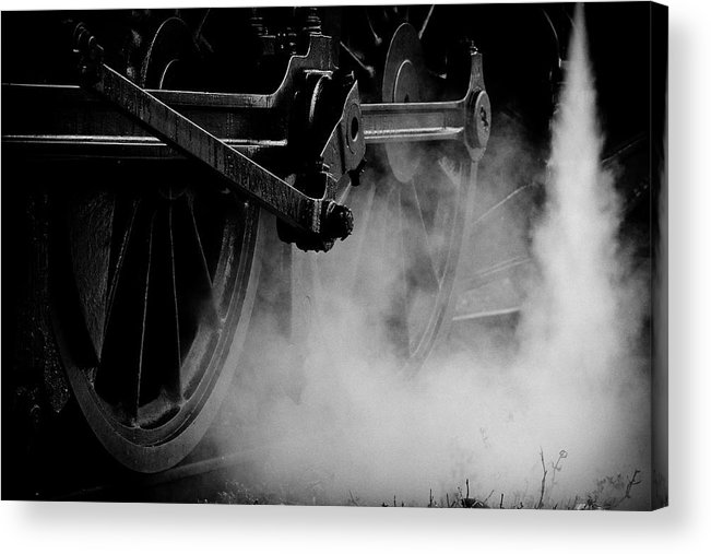 Vehicle Part Acrylic Print featuring the photograph Wheels State Railway Of Thailand Srt by Nobythai