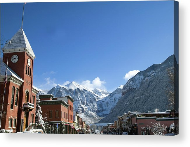 Scenics Acrylic Print featuring the photograph Winter Telluride Colorado by Dougberry