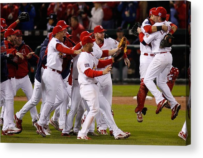 St. Louis Cardinals Acrylic Print featuring the photograph World Series Game 5 Detroit Tigers V by Dilip Vishwanat