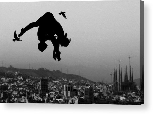 Piscina Municipal De Montjuic Acrylic Print featuring the photograph World Swimming Championships Barcelona by Adam Pretty