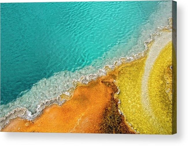Geology Acrylic Print featuring the photograph Yellowstone West Thumb Thermal Pool by Bill Wight Ca