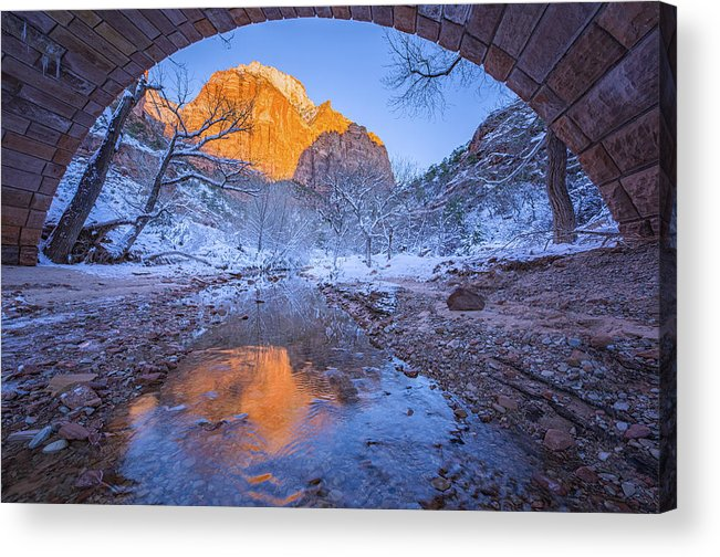 Landscape Acrylic Print featuring the photograph Zion National Park_02 by April Xie
