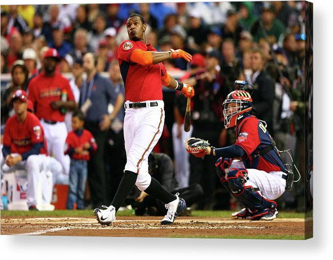 American League Baseball Acrylic Print featuring the photograph Adam Jones by Elsa