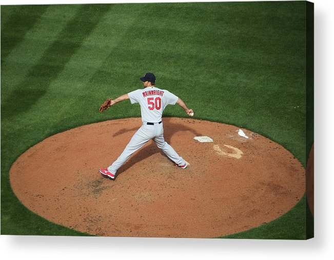 Great American Ball Park Acrylic Print featuring the photograph Adam Wainwright by John Grieshop