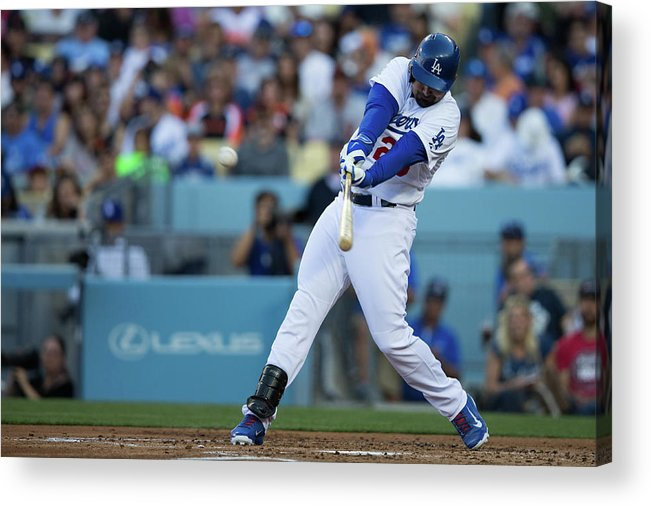 California Acrylic Print featuring the photograph Adrian Gonzalez by Paul Spinelli