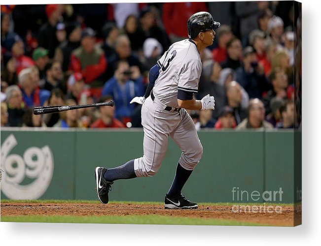 People Acrylic Print featuring the photograph Alex Rodriguez and Willie Mays by Jim Rogash