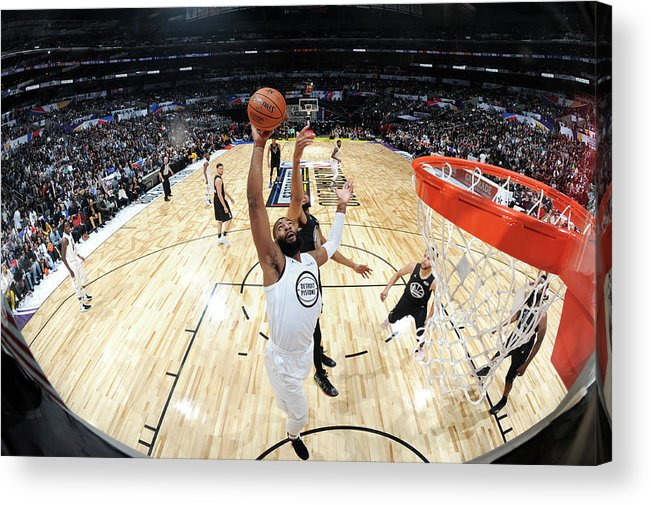 Nba Pro Basketball Acrylic Print featuring the photograph Andre Drummond by Andrew D. Bernstein