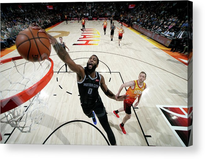 Nba Pro Basketball Acrylic Print featuring the photograph Andre Drummond by Melissa Majchrzak