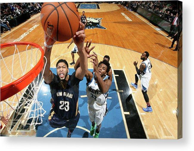 Nba Pro Basketball Acrylic Print featuring the photograph Anthony Davis by David Sherman