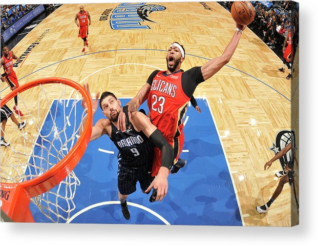 Nba Pro Basketball Acrylic Print featuring the photograph Anthony Davis by Fernando Medina